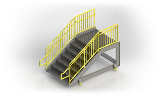 Fixed Access Steps With Platform Merlin Industry